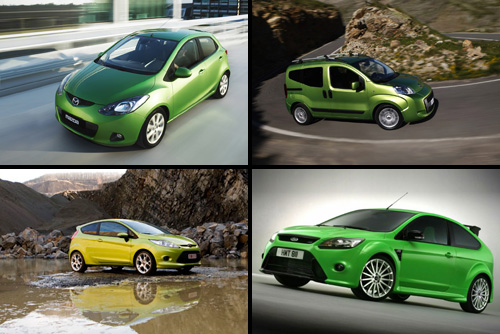Mazda 2, Fiat Qubo, Ford Fiesta, Ford Focus RS