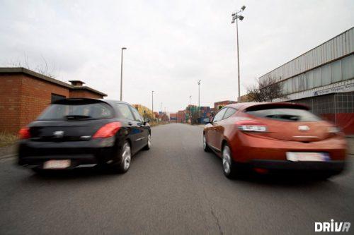 Peugeot 308 1.6T 175 vs Renault Mégane Coupé 2.0 Tce