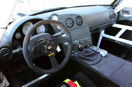 Interior of race-ready 2010 Dodge Viper SRT10 ACR-X.
