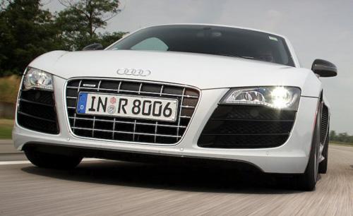Audi R8 met LED-koplampen