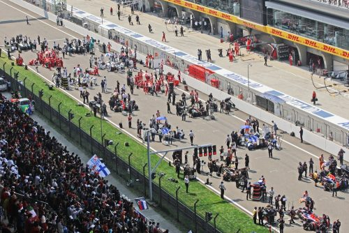 Formula One World Championship 2015, Round 3, Chinese Grand Prix, Shanghai, China, Sunday 12 April 2015 - The grid before the start of the race.