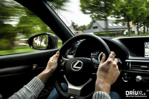 Lexus GS-F detail driving