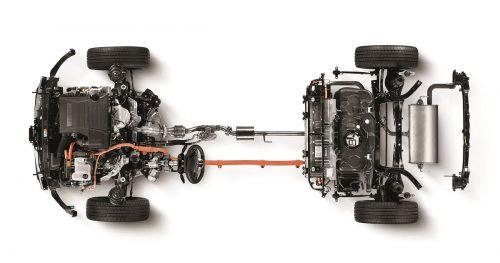 IONIQ Hybrid Powertrain topview