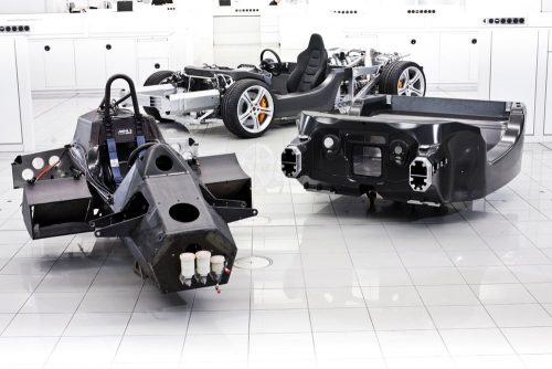 De McLaren F1 was de eerste productiewagen met carbon monocoque.