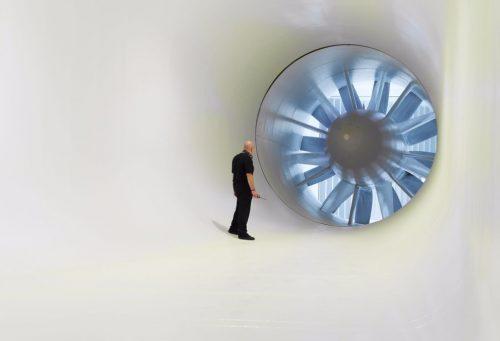 Dat er een windtunnel is zal je niet verbazen.