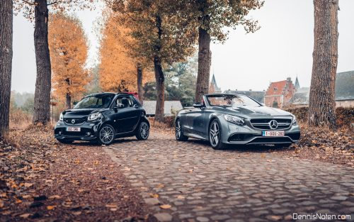 Mercedes-Benz S63 AMG Convertible & Smart Brabus Cabriolet for