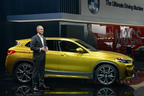 Bernhard Kuhnt, BMW President and CEO North America, introduces the BMW X2 - 2018 NAIAS - Detroit