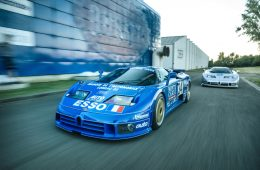 The only two factory-prepared racing Bugatti EB110s