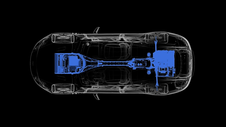 2018 Aston Martin Rapide E - Powertrain Diagram